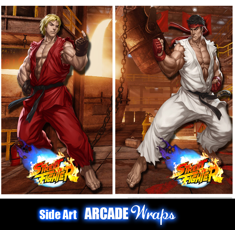 Street Fighter Arcade Side Artwork Panel Stickers Graphics